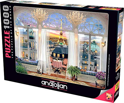 Anatolian Puzzle - Paris Roof Terrace, 1000 Piece Jigsaw Puzzle, #1091, Model Number: ANA1091