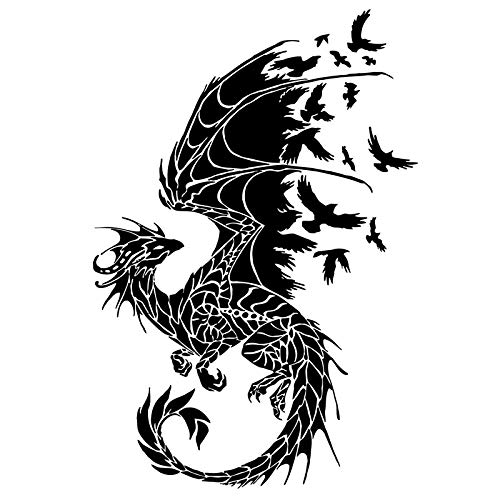 11.7cm * 17,2 cm Dragon Bird auto stickers motorfiets stickers csfssd (Color : Black)