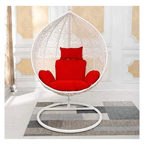 DYYD - Cojín para silla de huevo colgante de ratán/cojín para silla de huevo, extraíble y lavable, de alta densidad, regalo jardín de jardín (color: B)