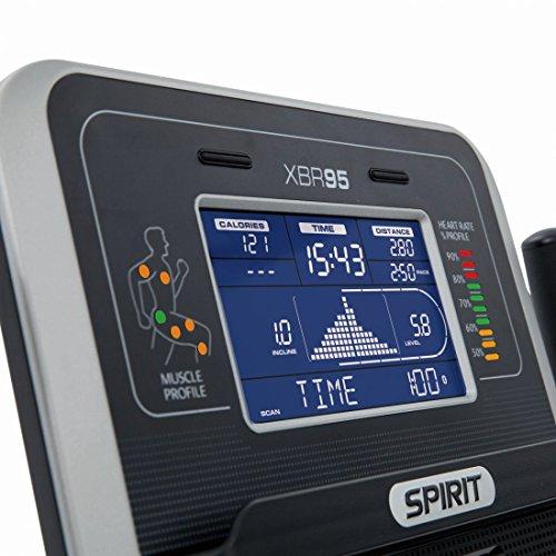 """Spirit Fitness Bike XBR 95 – Heimtrainer, Sitz-Ergometer, 12 Programme, 13,5kg Schwungrad, 7,5"""" LCD - 8"""