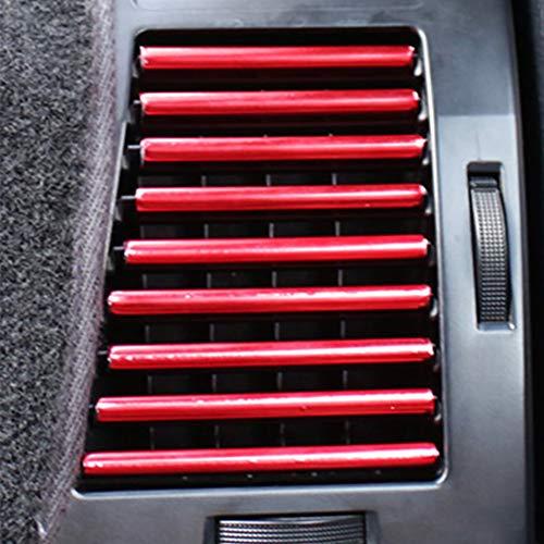 Bclaer72 10 tiras universales para decoración de rejilla de ventilación para coche, diseño de U, color rojo