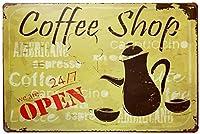 コーヒーショップティンサイン壁鉄絵レトロプラークヴィンテージ金属シート装飾ポスターおかしいポスターぶら下げ工芸品バーガレージカフェホーム