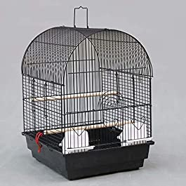 ANJJ Bird Breeding Cage/Aviary for African Grey Parrots Cockatiels Parakeets/black
