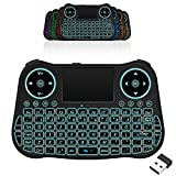 Backlit 2.4G Mini Wireless Keyboard with Touchpad Mouse Combo and QWERTY Keypoard, Rechargeable Handheld Keyboard Remote...