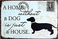 (T-Brezza) 選べる ブリキ 看板 メタル プレート アメリカン 雑貨 アンティーク ヴィンテージ レトロ (犬 dog)
