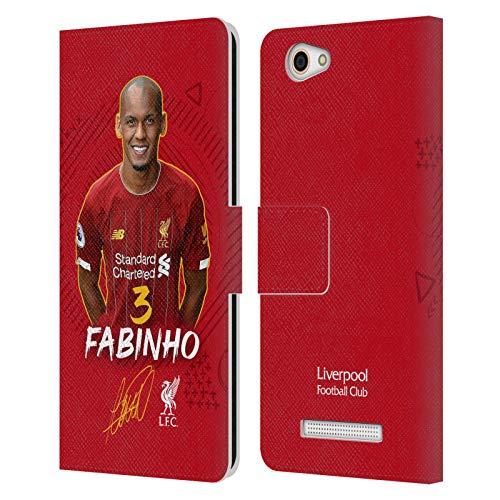 Head Hülle Designs Offizielle Liverpool Football Club Fabinho 2019/20 Erstes Team Gruppe 1 PU Leder Brieftaschen Huelle kompatibel mit Wileyfox Spark X