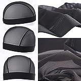 5pcs/lot black Dome Cornrow Wig Caps Easier Sew In Hair Stretchable Weaving Cap Elastic Nylon Breathable Mesh Net hairnet Large size