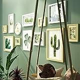 DONG Foto Wand Bilderrahmen Collage Foto Wände Holz Foto Wände Bilderrahmen Grün Dekorative Gemälde Kombination Wohnzimmer Schlafzimmer Dekorationen (Farbe : Primary Colors+White)