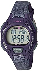 professional Timex Ladies Iron Man Medium Digital Quartz Watch 30 Circle Purple / Gray Texture – TW5M075009J
