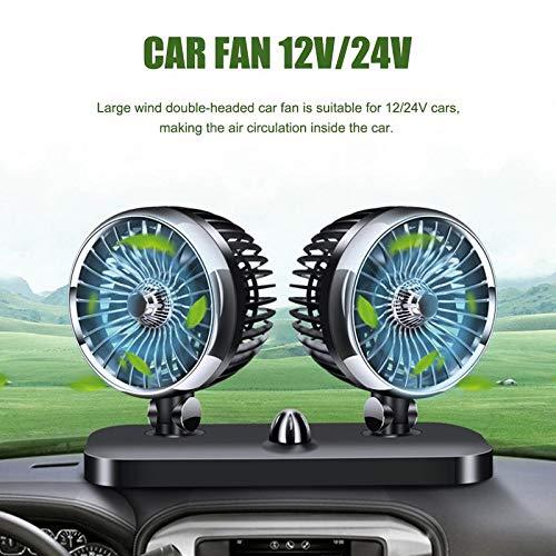 Maso ventilador de refrigeración de coche eléctrico giratorio doble cabeza auto ventilador...