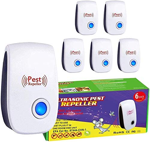 FL Falatier Ultrasonic Pest Repeller 6 Pack Power 5 6W Pest Control for Insects Mosquito Mouse product image