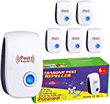 FL Falatier Ultrasonic Pest Repeller 6 Pack,Power 5-6W,Pest Control for Insects, Mosquito, Mouse, Cockroaches, Rats, Bug, Spider, Ant, Human and Pet Safe,White