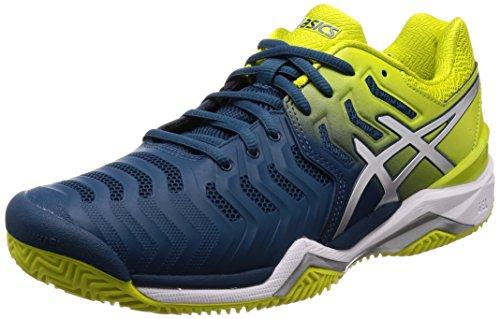 Asics Gel-Resolution 7 Clay, Zapatillas de Tenis para Hombre, Azul (Ink Blue/Sulphur Spring/White 4589), 40 EU