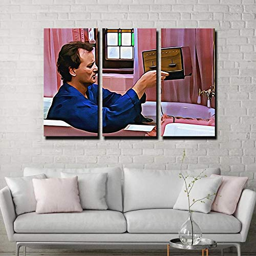 Impresión De Lienzo De Pared Arte Pintura Para Decoración Para El Hogar Pintura Impresión Sobre Lienzo Cuadro 3 Piezas Panel Pinturas Fotos Impresiones 50x70x3( Marco) Tostadora Del Día De La Marmota