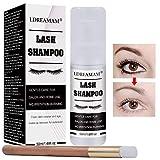 lash shampoo,Eyelash Extension Shampoo,Eyelid Eyelash Foaming Cleanser,Wash for Natural Lashes,Remove Makeup Residue and Mascara