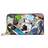 XCNGG Hatsune Miku Anime Wallet Wallet Los Estuches de Cuero para Tarjetas de crédito para Hombres y Mujeres Son exclusivos, Personalizados con Bricolaje, Carteras de Moda, Unisex