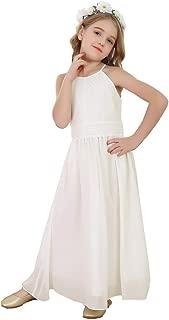 Áo quần dành cho bé gái – Flower Girl's Dress Chiffon Wedding Bridesmaid Youth Big Girls Pageant Party Evening Prom Gowns