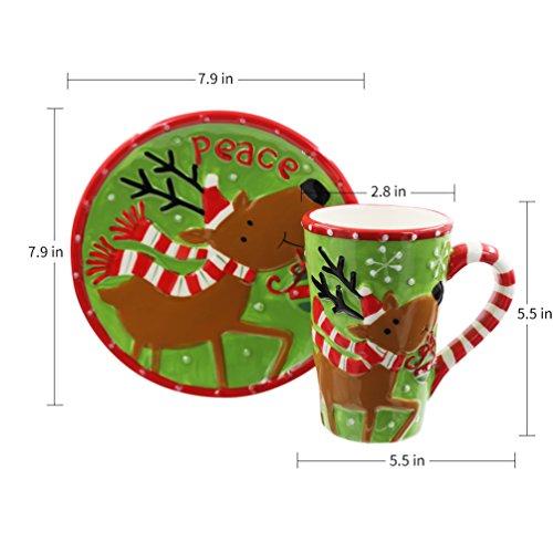 19 oz Caramic Mug and Coaster Set with Gift Box (Milu Deer)