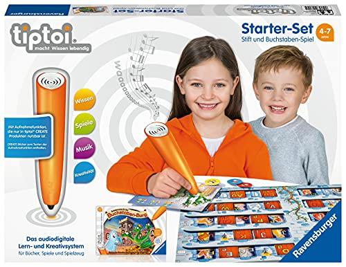 Ravensburger tiptoi 00802 Starter Set - Juego de bolígrafo y Letras, Sistema de Aprendizaje para niños a Partir de 4 años