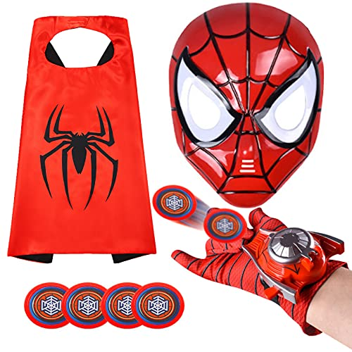 Kids Superhero Capes and LED Mask - Superhero Toys and Costume Gloves- Compatible Superhero Toys