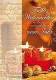 Weihnachtskarte Basic Classic - Teelichter - 11,6 x 16,6 cm