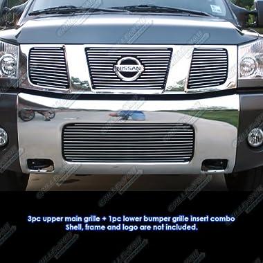 APS Fits 04-07 Nissan Titan/Armada Billet Grille Combo Upper+Low #N67992A