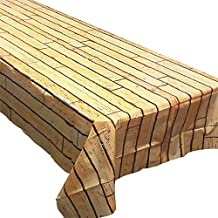 Wood Plank Tablecovers (2), Wooden Party Supplies, Boardwalk Decorations, Birthday Party