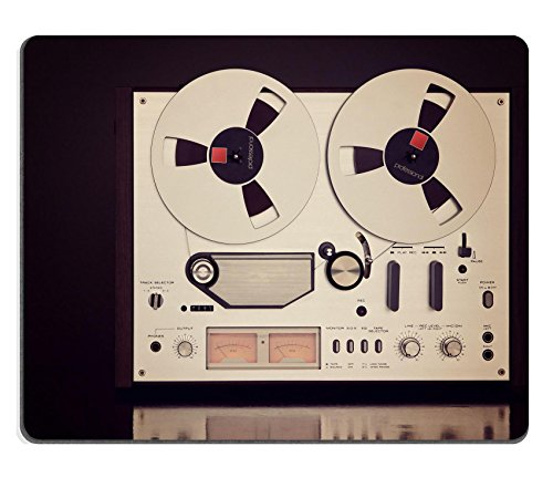 Liili Mouse Pad Natural Rubber Mousepad Image ID 32523869 Analog Stereo Open Reel Tape Deck Recorder Vintage for Professional Sound Recording