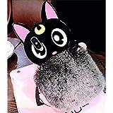 KC Lovely Cartoon Rabbit Furry Fluffy Warm Plush Bear Fur Hair with Big