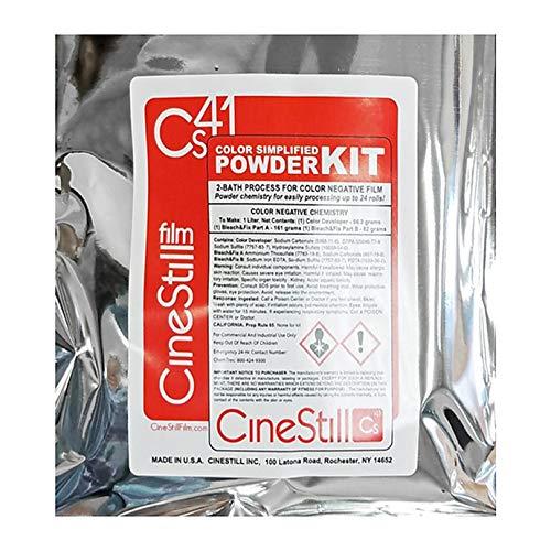 Cinestill Kit de desarrollo de polvo simplificado de color Cs41 (1000 ml)