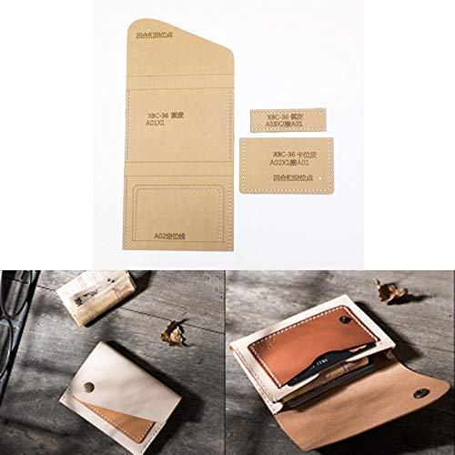 NO LOGO 1set DIY Leder handgemachte Fertigkeit Frauen-Handtaschen-Geldbeutel Schnittmuster Hart Kraft Paper Stencil Schablone 120x80mm