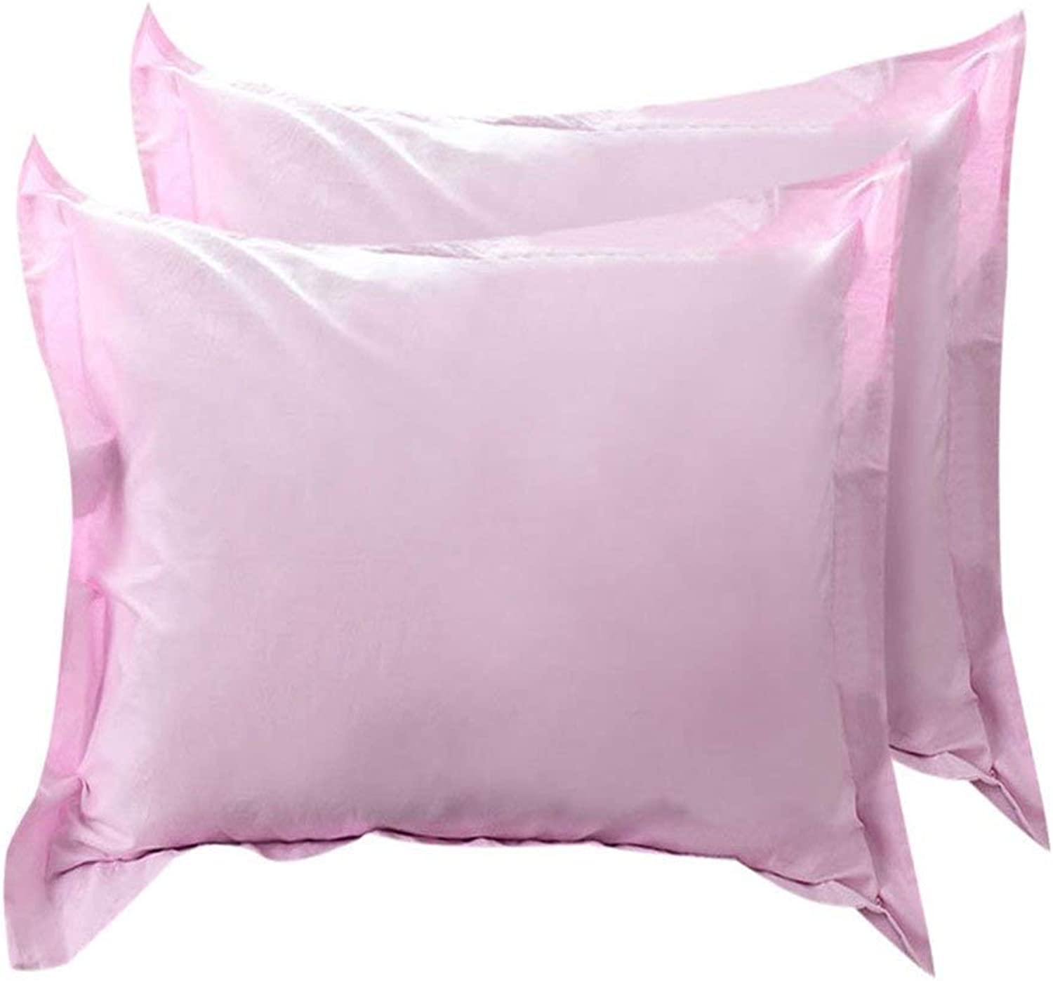 18\ x 18\, Pink   Pillow Shams Oxford Pillow Cases Egyptian Cotton 300 Thread Count Solid Plain Pattern Pink 18 x 18 Inch Set of 2