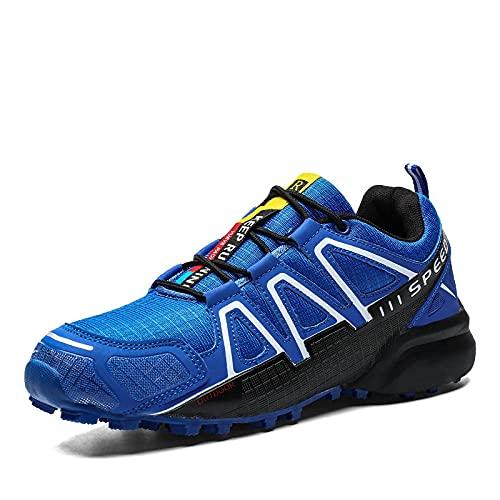 Fnho Zapatillas Deportivas para Correr,Zapatos Deportivos para Correr,Zapatos para Caminar al Aire Libre, Zapatos para Correr para Hombres de Tendencia-Blue_40