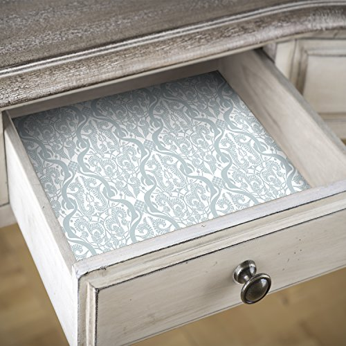 decomonkey | Schrankpapier Küche 5 m x 0,5 m XXL Format Vlies | Innenraum | für Regal und Schubladen | Schubladeneinlage | Schubladenmatte | Blatt | modern | | Deko XXL | Punktmuster Ornament Vintage