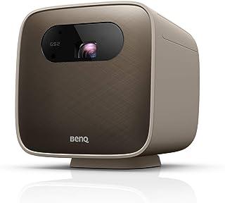 BenQ GS2 Wireless 500 Lumen Mini Portable Projector |Bluetooth Speaker| WiFi Projector | Built in Apps | USB-C, HDMI|Cast ...