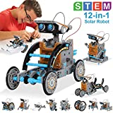 MAN NUO HOMOFY STEM Toy Solar Robot Kit 12-in-1 Learning Science Building Toys|Educational