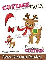 """CottageCutz Dies-Sweet Christmas Reindeer, 2.2""""X2.7"""""""