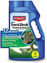 BioAdvanced 701700B 12-Month Tree and Shrub Protect and Feed Insect Killer and Fertilizer, 4 lb, Granules