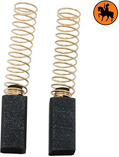 Buildalot Specialty koolborstels ca-04-33907 voor Black & Decker cirkelzaag CD600-6,35x6,35x13 mm - met veren - vervanging voor originele onderdelen 913599 & 915068-01