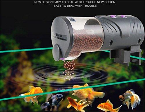 UGETDE-Automatic feeder fish tank goldfish Koi automatic feeding aquarium intelligent automatic...