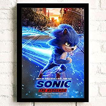 Amazon Com Sonic The Hedgehog Movie Poster Prints Wall Art Decor Unframed Multiple Patterns Available 16x12 32x22 Inches Posters Prints