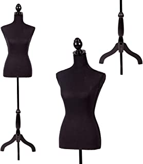 "FDW Mannequin Manikin 60""-67""Height Adjustable Female Dress Model Display Torso Body.."