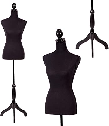 "Mannequin Torso Manikin Dress Form 60""-67""Height Adjustable Female Dress Model Display Torso Body Tripod Stand Clothing Forms"