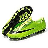 AIRUYI Zapatos de fútbol Zapatos de fútbol Transpirables y Resistentes al Desgaste Professional High Top al Aire Libre al Aire Libre Adolescente Completa Completo COMPORTANTE CHOPOS DE FUTÚ