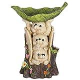 TERESA'S COLLECTIONS Igel Gartenfiguren Vogeltränke 30.5cm Gartendeko Figur Vögel Wassertränke aus Kunstharz Vogelfutterspender Wasserfest Futterschale Vogelfütterer für Garten Balkon Vogelbad