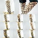 Kare & Kind 10pz Sleeve Tatuaggi Temporanei Finti Body Art Accessori Braccia Calze by Design Tribale, Drago, Teschio, ECC.