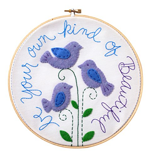 Bucilla Stamped Embroidery Kit (8-Inch), Be Your Own Kind