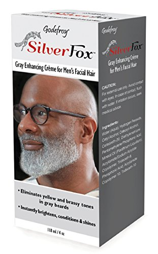 Godefroy Silver Fox Men's Silver And Gray Beard Brightener For Ethnic Hair Types, 3 Fluid Ounce