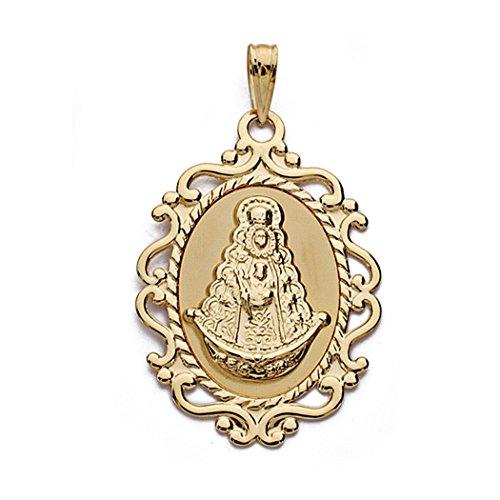 Medalla Oro 18K Virgen Del Rocío 31cm. [Aa0216Gr] - Personalizable - Grabación Incluida En El Precio