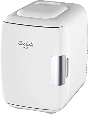 Cooluli Mini Fridge Electric Cooler and Warmer (4 Liter / 6 Can): AC/DC Portable Thermoelectric System w/ Exclusive On the Go